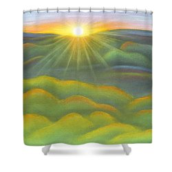 Isla Gorge Sunset Shower Curtain