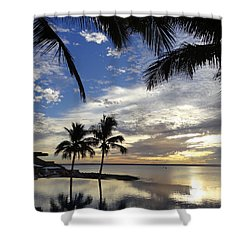 Isla Infinity Shower Curtain by Anne Mott