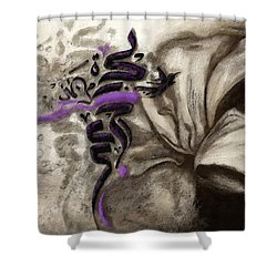 Islamic Calligraphy 014 Shower Curtain by Catf