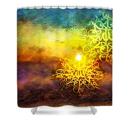 Islamic Calligraphy 020 Shower Curtain by Catf