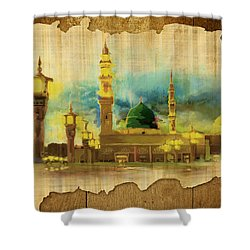 Islamic Calligraphy 035 Shower Curtain by Catf