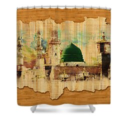 Islamic Calligraphy 040 Shower Curtain by Catf