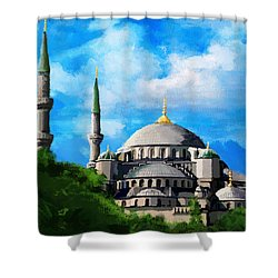 Islamic Mosque Shower Curtain by Catf