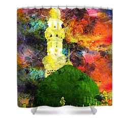 Islamic Painting 007 Shower Curtain by Catf