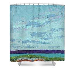Island Estuary Shower Curtain by Gail Kent