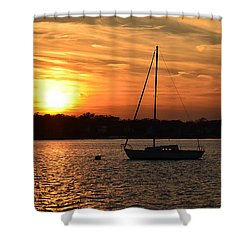 Island Heights Sunset Shower Curtain by Brian Hughes
