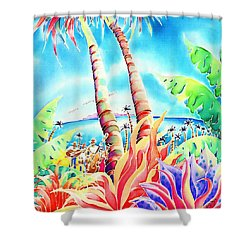 Island Of Music Shower Curtain