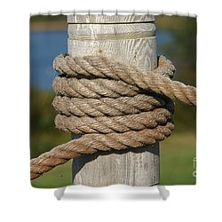 Island Ropework Shower Curtain