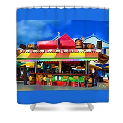 Island Stand Shower Curtain by Gerry Robins