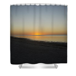 Shower Curtain featuring the photograph Island Sunset by Robert Nickologianis