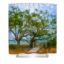Island Time On Daniel Island Shower Curtain