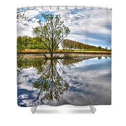 Island Tree Shower Curtain