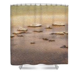 Shower Curtain featuring the photograph Islands In The Stream by Nadalyn Larsen