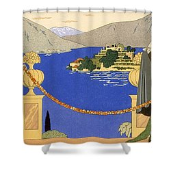 Isola Bella Shower Curtain by Georges Barbier