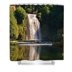 Isola Del Liri Falls Shower Curtain by Dany Lison