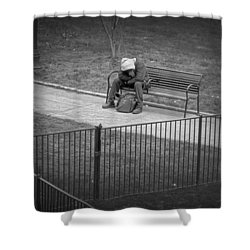 Isolation Shower Curtain by Brian Wallace