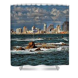 Israel Full Power Shower Curtain