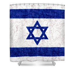 Israel Star Of David Flag Batik Shower Curtain