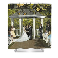 Issaquah Wedding  Shower Curtain