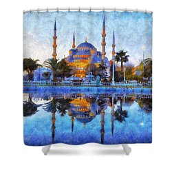Istanbul Blue Mosque  Shower Curtain by Lilia D