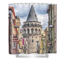 Istanbul Galata Tower Shower Curtain