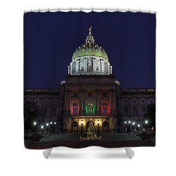 It Came Upon A Midnight Clear Shower Curtain by Lori Deiter