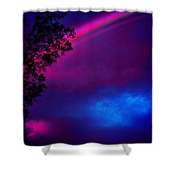 Shower Curtain featuring the photograph It Happened Just This Dawn by Susanne Still