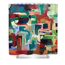 It Is Fitting To Feel The Pain Of Others Shower Curtain by David Baruch Wolk