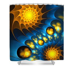 Shower Curtain featuring the digital art It Is Time by Anastasiya Malakhova