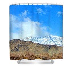 It Snowed Last Night Shower Curtain by Marilyn Diaz