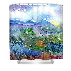 It Sometimes Rains In Tuscany Too  Shower Curtain