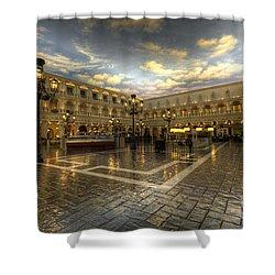 Italian American  Shower Curtain by Rob Hawkins