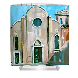 Italian Church Shower Curtain by Filip Mihail