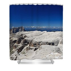Shower Curtain featuring the photograph Italian Dolomites - Sella Group by Antonio Scarpi