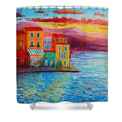 Italian Dream Shower Curtain by Bozena Zajiczek-Panus