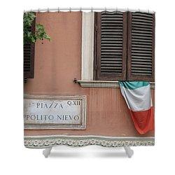 Italian Flag Shower Curtain