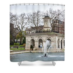 Italian Fountain In London Hyde Park Shower Curtain by Semmick Photo