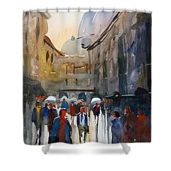 Italian Impressions 5 Shower Curtain by Ryan Radke