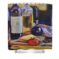 Italian Kitchen Shower Curtain by Donna Tuten