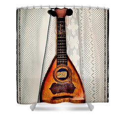 Italian Mandolin Shower Curtain by Bill Cannon
