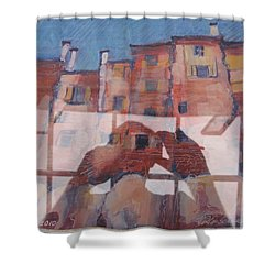 Italian Painting Reflection Shower Curtain