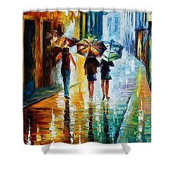 Italian Rain Shower Curtain by Leonid Afremov