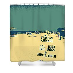 Italian Sausage Shower Curtain by Valerie Reeves