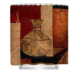 Italian Urn Collage Shower Curtain