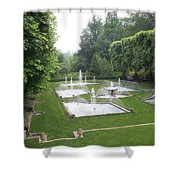 Italian Water Garden Shower Curtain by Barbara McDevitt