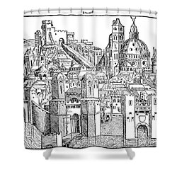 Italy - Padua 1493 Shower Curtain by Granger