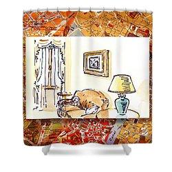 Italy Sketches Venice Hotel Shower Curtain by Irina Sztukowski