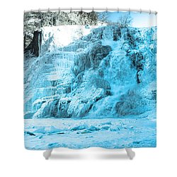 Ithaca Falls In Winter Shower Curtain