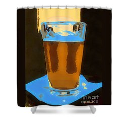 Shower Curtain featuring the painting It's 5 O'clock Somewhere by Elizabeth Coats