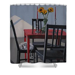 Shower Curtain featuring the painting Its A New Day by Karen Ilari